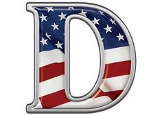 Reflective Letter D with Flag :: Patriotic Reflective Vinyl Lettering and Numbering :: Letters and Numbers :: Weston Signs Inc.