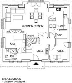 Erdgeschoss als Variante beim Bau mit Keller