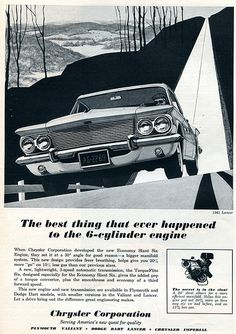 1961 Chrysler Dodge Lancer Advertising Car and Driver April 1961