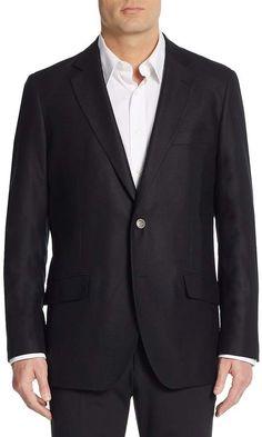 Saks Fifth Avenue Men's Slim-Fit Textured Wool Sport Coat