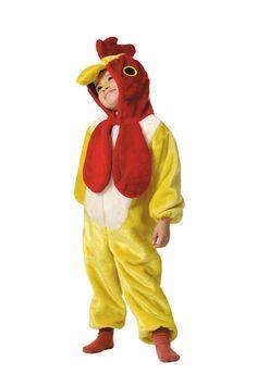 DisfracesMimo, disfraz de pollito amarillo infantil varias tallas. El peque de la casa se convertirá en el despertador de la granja. Este disfraz es ideal para tus fiestas temáticas de animales y gallo para infantil. fabricacion nacional