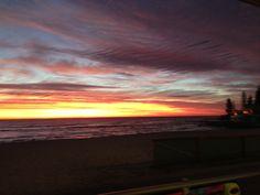 Sunrise over beautiful Burleigh Beach Tuesday 24th June 2014