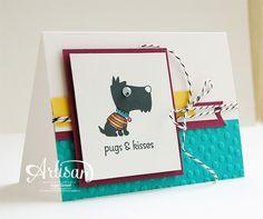 "Stampin' Cards and Memories: ""Pugs & Kisses"" SU! Card by Inge Groot (Artisan~Design Team 2014)"