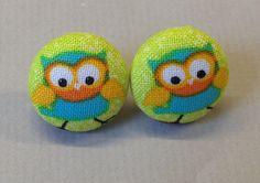 3/4 Size 30 Blue/Yellow/Orange/Black/White/Green Owl by RatDogInk