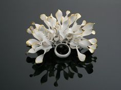 Ring   Chao-Hsien Kuo.  'Nordic Sunshine'. 925 silver, 999 keum-boo gold foil