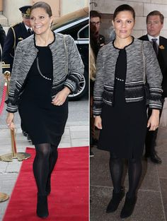 On October 13, 2015, Crown Princess Victoria of Sweden attend the presentation of the Sustainability Prize at the a business weekly magazine's Sustainability Day at the Grand Hotel in Stockholm, Sweden.