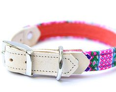 Small Dog Collar / Jacquard / Hot Pink