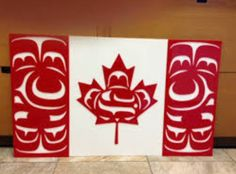 The Canadian Native Flag was designed by Kwakwaka'wakw artist Curtis Wilson. His design for the flag is meant to represent First Nations in Canada to the publi National Aboriginal Day, National Flag, Aboriginal Art, Aboriginal Education, Indigenous Education, Arte Haida, Haida Art, Native Canadian, Native American Art