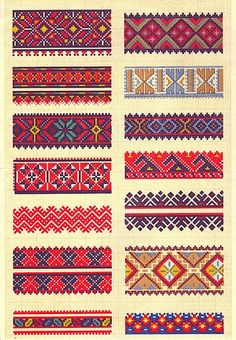 ru / Photo # 5 - 26 - of Cross Stitch Borders, Cross Stitch Charts, Cross Stitch Designs, Cross Stitch Patterns, Diy Embroidery, Cross Stitch Embroidery, Embroidery Patterns, Bead Loom Patterns, Weaving Patterns