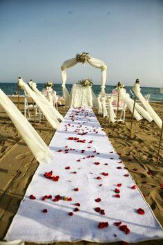 Beach Wedding set up, Limak Lara, Lara Turkey x Perfect Weddings Abroad, Wedding Abroad, Beach Weddings, Wedding Set Up, Formal Wedding, Wedding Ideas, Civil Marriage Ceremony, Turkish Wedding, Walima Dress