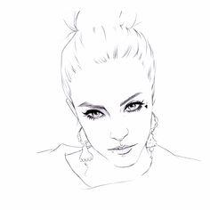 Miss Led portrait commission drawing ilustration