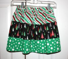 Size 5/6 Christmas skirt. $14.00, via Etsy.