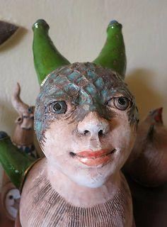 e-keramika / Tajomná víla Socha, Garden Sculpture, Sculptures, Christmas Ornaments, Holiday Decor, Outdoor Decor, Artwork, Work Of Art, Auguste Rodin Artwork