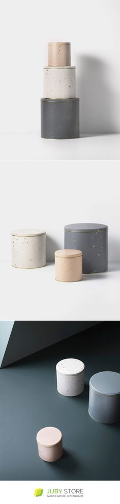 Ferm Living Confetti Tin Boxes (set Of 3) - Juby Store - created via https://pinthemall.net