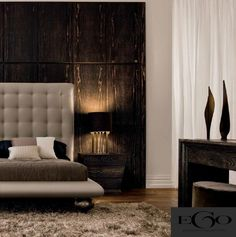 Wood has so much character it enhances neutral spaces. Linden Homes, Black Rooms, Brown Decor, Interior Designing, Dream Bedroom, Chocolate Brown, Master Suite, Interior Architecture, Cribs
