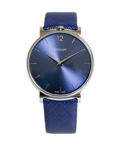 Guillot's elegant men watch #guillotwatches #maisonguillot #timetochange #timetohavefun #timetobeyourself #wristwatch #watchformen #bluewatch #steelwatch #bluedial #swissmade #luxury #interchangeable #mageticwatch #elegance #borninparis #watchlover #watchaddict Bracelets Bleus, Elegant Man, Men Watch, Watches For Men, Steel, Luxury, Classic, Blue, Accessories