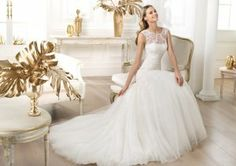 Jewel Chapel Train Tulle Trumpet Mermaid Wedding Dress Wpr0016