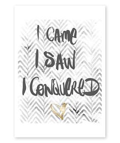 Love this Veni Vidi Vinci Print on #zulily! #zulilyfinds