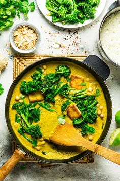 Vegan tofu korma with greens - Lazy Cat Kitchen