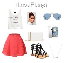 """""""Friday shopping"""" by alanij1106 ❤ liked on Polyvore featuring LE3NO, Mystique, Diane Von Furstenberg and Ray-Ban"""