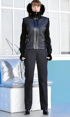 Black Quilt and Rib Gilet 817x183 - £150 Rib collar and sides in wool/acrylic are stunning when combined with quilted bodice to give the most stylish-and warm-gilet. Front zip and pockets