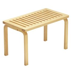 Artek Alvar Aalto Bench These solid birch benches were designed by Alvar Aalto in They are available in two sizes and can easily fit in an entryway, create patio seating in a backyard or act as a casual living room tabl. Bench Furniture, Plywood Furniture, Modern Furniture, Furniture Design, Plywood Cabinets, Furniture Ideas, Alvar Aalto, Wall Bench, Chair Bench