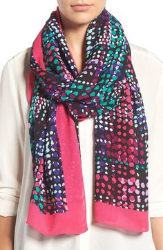 kate spade new york dotty oblong scarf available at #Nordstrom