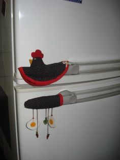 towel holder- porta toalha - customização de macanetas de geladeira e fogão