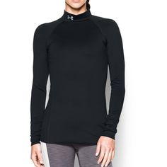 Under Armour Womens ColdGear Infrared EVO Mock Long Sleeve Black/Elemental Large Guide To Japanese, Japanese Grammar, Under Armour Coldgear, Life Without You, Cold Gear, Body Heat, Under Armour Men, All Fashion, Solid Black