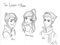 Bolin, Korra, and Mako