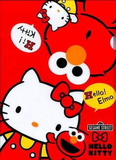 Hello Kitty and Elmo
