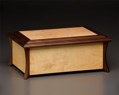 Tiberius Cremation Urn - Solid Wood (Walnut/Maple) Made in Canada