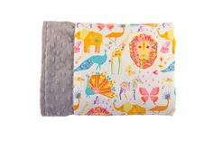 Candy Pride Reversible Minky Blanket - Levi & Evelyn