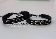 # #baybayankombin #isimler #emeğesaygı @srcn_scl Loom Bracelet Patterns, Bead Loom Bracelets, Loom Beading, Belt, Accessories, Jewelry, House, Ideas, Fashion