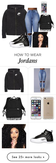 """No Spanish todayyy"" by aerielle24 on Polyvore featuring NIKE, Retrò, Kylie…"