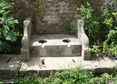 Roman latrine in Algeria. Two seater for conversation festooned with porpoises. In the Roman period, public toilets were known as Vespasianae, after the emperor Vespasian who placed a tax on them. In Ancient Times, Ancient Rome, Ancient History, Ancient Roman Houses, Outside Toilet, Pompeii Italy, Rome Antique, Roman History, Minoan