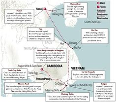 Vietnam and Cambodia Map and Itinerary