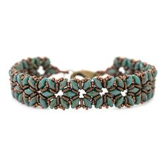 Petite Fleur Bracelet | Fusion Beads Inspiration Gallery- Superduo and O-beads