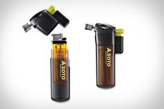 """Soto Pocket Torch-  """"transforming the cheap fire sources into a full-on, wind-resistant mini-blowtorch capable of reaching temperatures of up to 2,300ºF."""""""