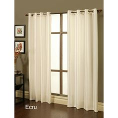 Sherry Kline Faux Silk Grommet Top 84-inch Blackout Window Panel Pair - Overstock™ Shopping - Great Deals on Sherry Kline Curtains