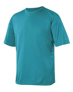 Terramar Sports Mens Helix SS Crew L Lagoon -- Click on the image for additional details.Note:It is affiliate link to Amazon.