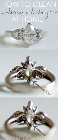 Shine up and remove residue from your rings. How to clean diamond ring at home