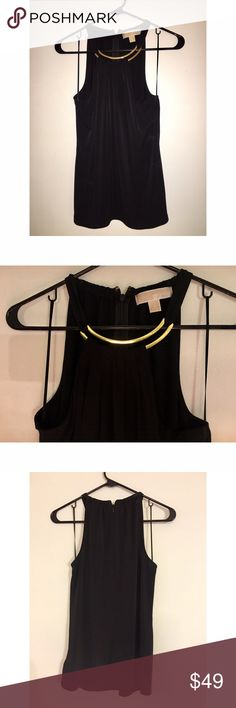 Michael kors black & gold top Great condition! Great work shirt! Michael Kors Tops Blouses