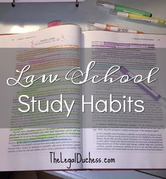 The best study habits for Law School