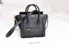 Celine Micro luggage tote in Dune pebbled leather | Bags ...