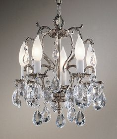 "View the Classic Lighting 5227-MS 13"" Crystal Cast Brass Mini-Chandelier from the Barcelona Collection at LightingDirect.com."