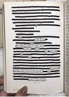 Beautifully dark piece by @apoeticmemoir. 🖤 #makeblackoutpoetry #blackoutpoetry #poetrycommunity #poetry