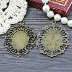 10X-Antique-Bronze-Tone-Oval-Lace-Glass-Base-Cabochon-Setting-Tray-Pendant-DIY Bronze, Cabochon Settings, Bracelet Watch, Pendant, Diy, Accessories, Lace Up, Bricolage, Hang Tags