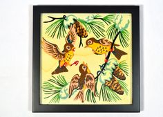 Vintage Painting Found Art Birds 1959 Paint By Numbers! on Etsy, $20.00