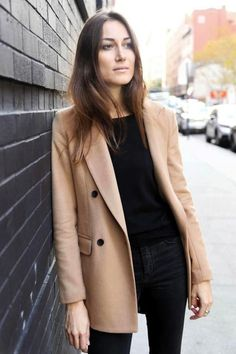 Top Clothing Choices For A Stunning New Look Blazers, Camel Coat Outfit, Mode Mantel, 2016 Fashion Trends, Fashion Ideas, Popular Dresses, Victoria Dress, Italian Girls, Blazer Fashion